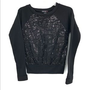 LOVE SEQUINED SWEATER.